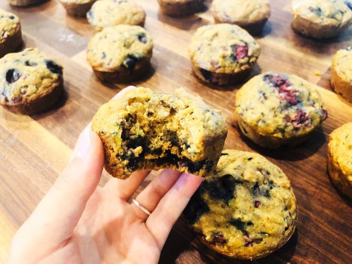 Vegan Zucchini Blueberrymuffins